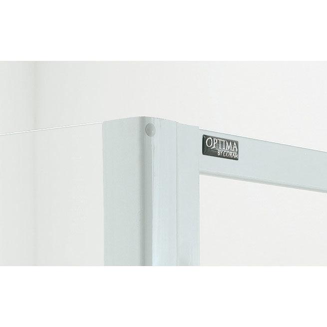 Coram - Optima Quadrant Shower Enclosure - White - Various Size Options Feature Large Image