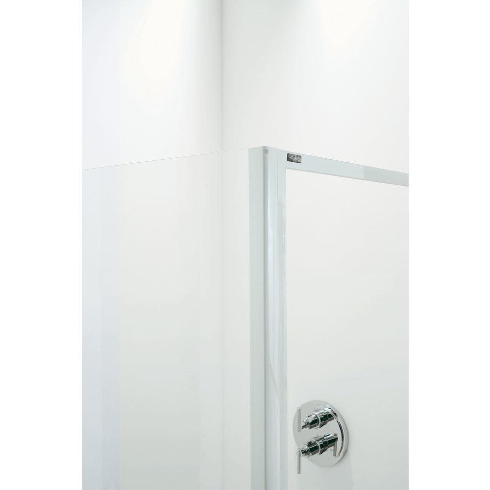 Coram - Optima Quadrant Shower Enclosure - White - Various Size Options Profile Large Image
