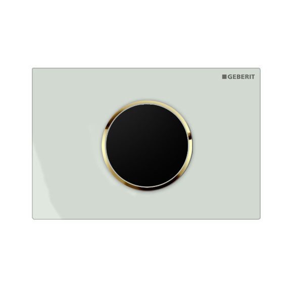 Geberit - Touchless Automatic Flush for UP320 Cistern - Sigma10 - White and Gold Large Image