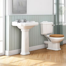 Winchester 5 Piece 2TH Traditional Ceramic Bathroom Suite Medium Image