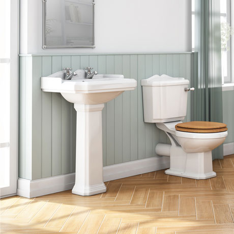 Winchester 5 Piece 2TH Traditional Ceramic Bathroom Suite