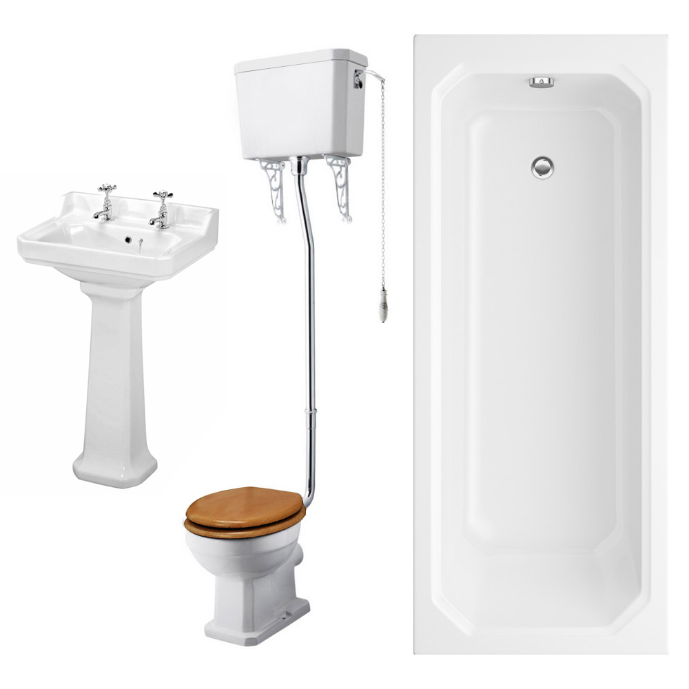 Winchester High Level Toilet Bathroom Suite Large Image
