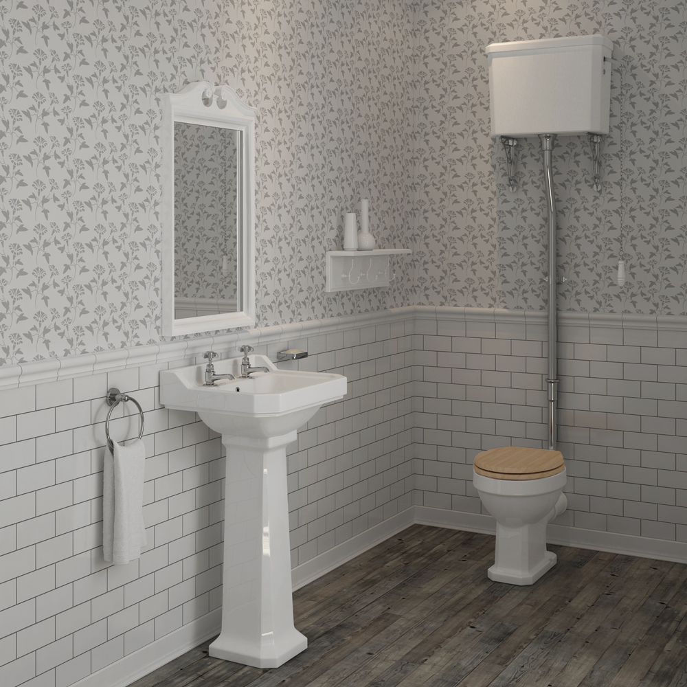 Winchester High Level Toilet Bathroom Suite profile large image view 2