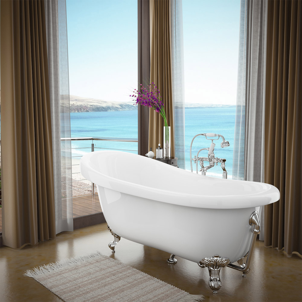 Winchester Traditional Complete Roll Top Bathroom Package (1710mm) Standard Large Image