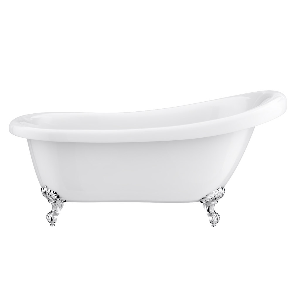 Winchester Traditional Free Standing Roll Top Slipper Bathroom Suite (1550mm) Feature Large Image