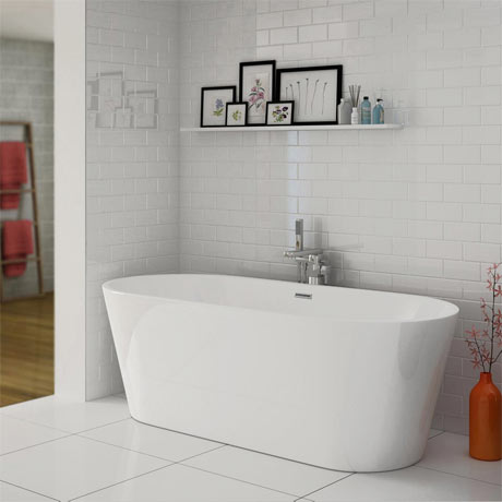 Windsor Brooklyn 1700 x 800mm Double Ended Freestanding Bath