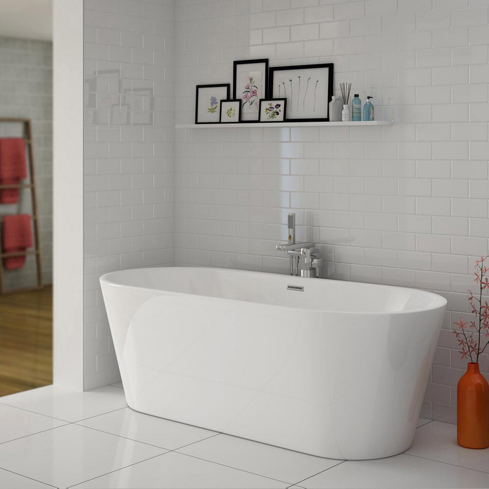 Windsor Imperial 1690 x 790mm Double Ended Freestanding Bath Large Image