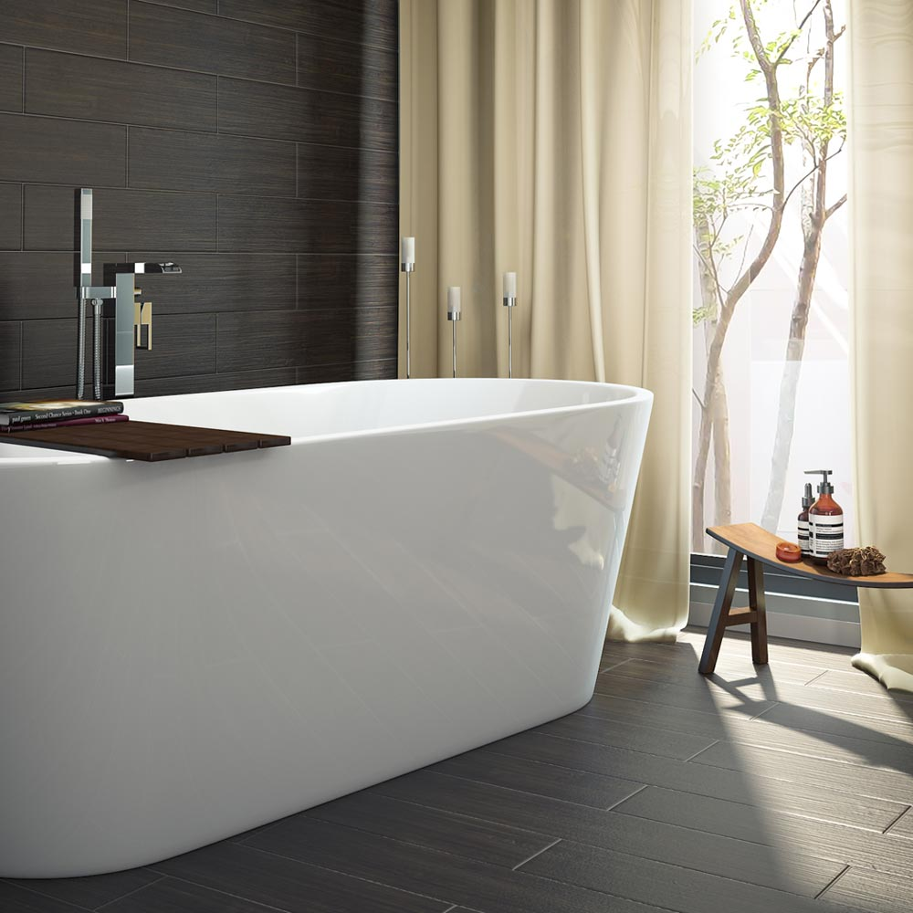 Windsor Imperial 1690 x 790mm Double Ended Freestanding Bath profile large image view 3