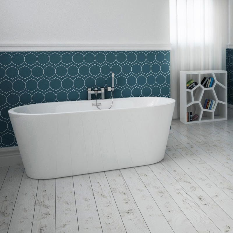 windsor imperial 1500 x 750mm double ended freestanding bath