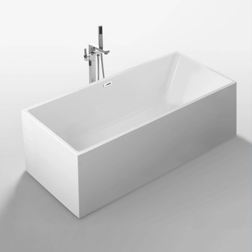 Windsor Kubic 1500 x 750mm Small Double Ended Free Standing Bath Large Image