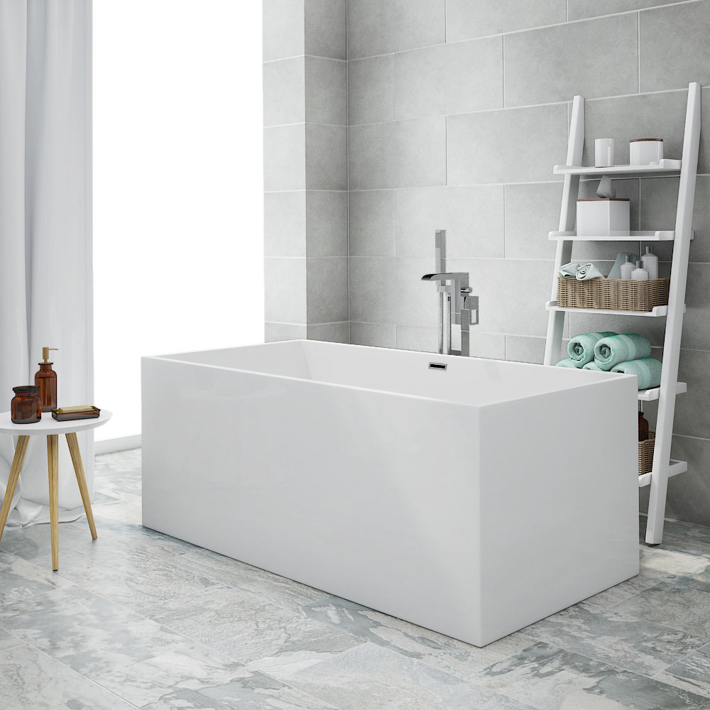 Windsor Kubic 1500 x 750mm Small Double Ended Free Standing Bath profile large image view 1