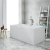 Windsor Kubic 1500 x 750mm Small Double Ended Free Standing Bath profile small image view 1