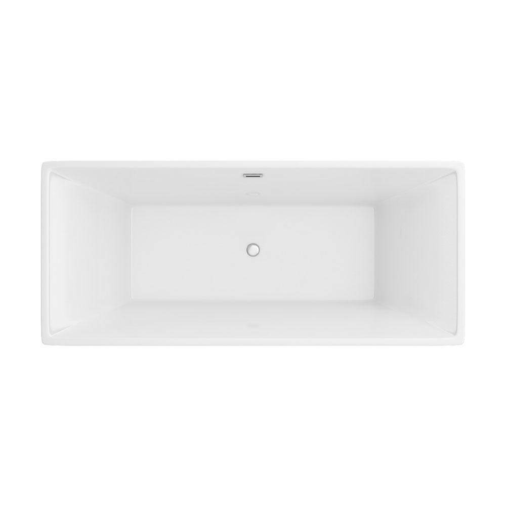 Windsor Kubic 1700 x 750mm Double Ended Free Standing Bath profile large image view 2