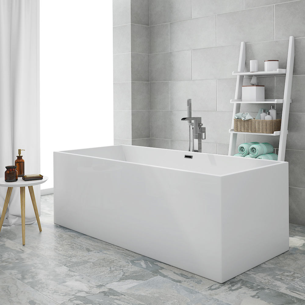 Windsor Kubic 1700 x 750mm Double Ended Free Standing Bath profile large image view 1