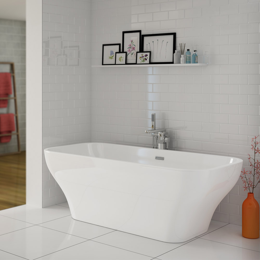 Windsor Mirage 1690 x 750mm Double Ended Freestanding Bath Large Image