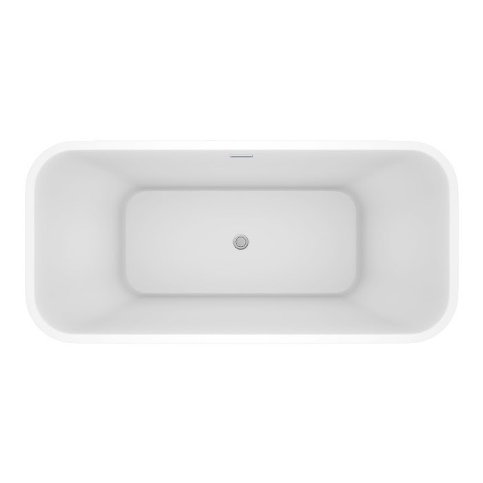 Windsor Mirage 1690 x 750mm Double Ended Freestanding Bath Feature Large Image