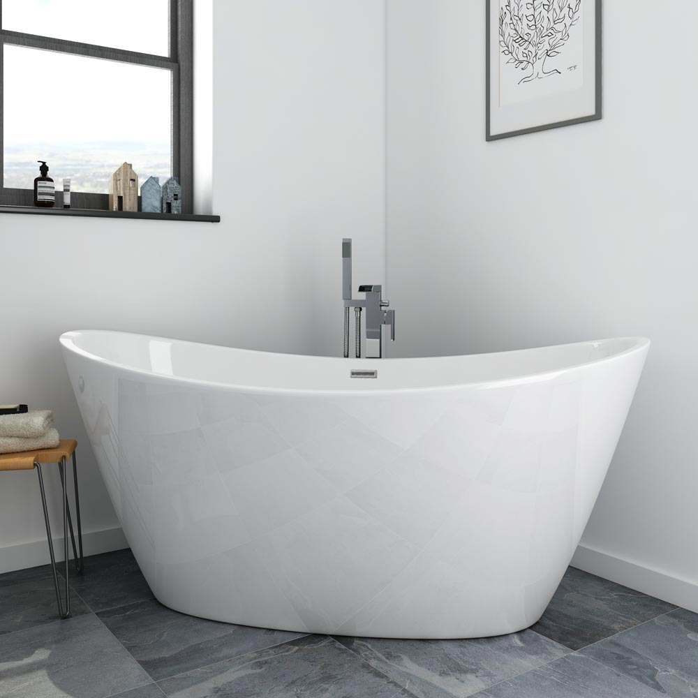 Windsor Sofia 1700 x 800mm Modern Double Ended Freestanding Bath Large Image