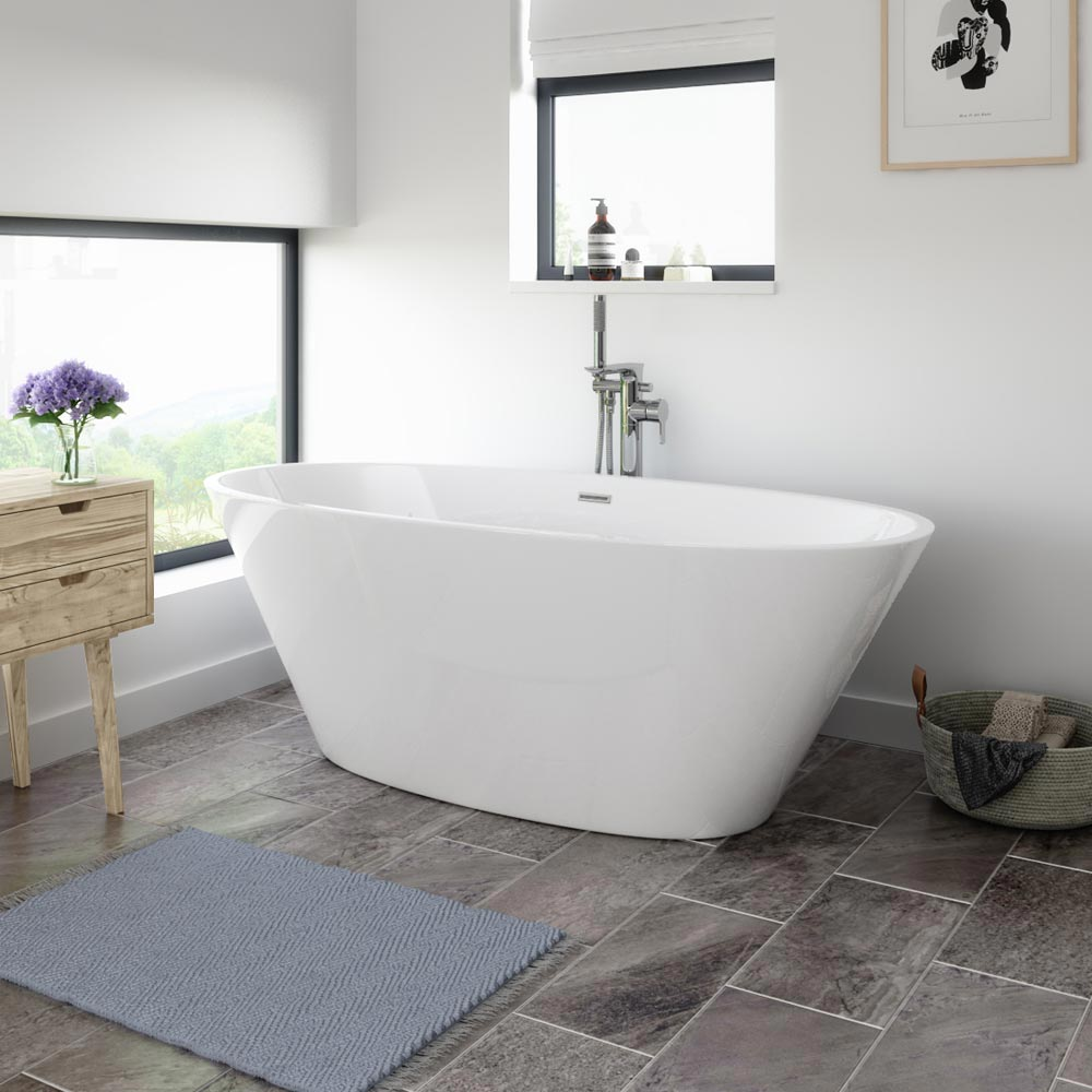 Windsor Sorrento 1720 x 790mm Modern Double Ended Freestanding Bath Large Image