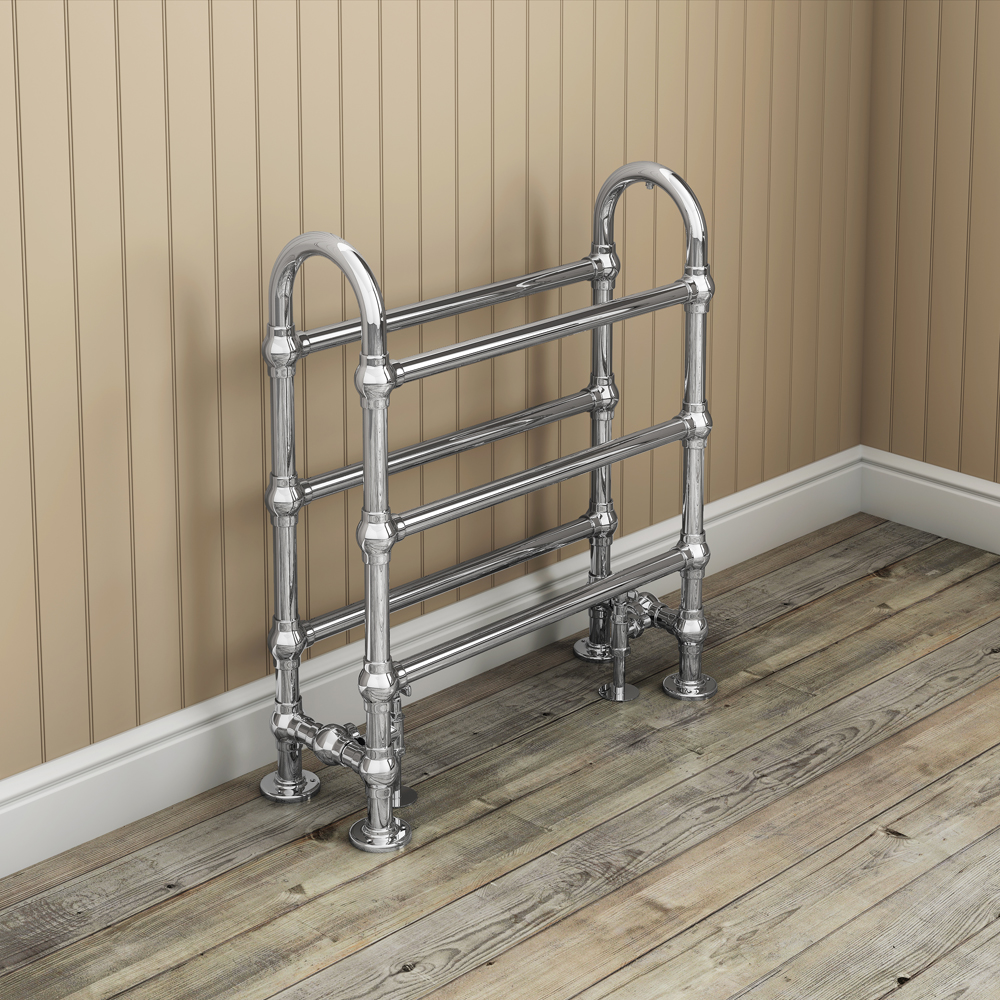 Windsor Traditional 778 x 686mm Chrome Freestanding Towel Rail profile large image view 2