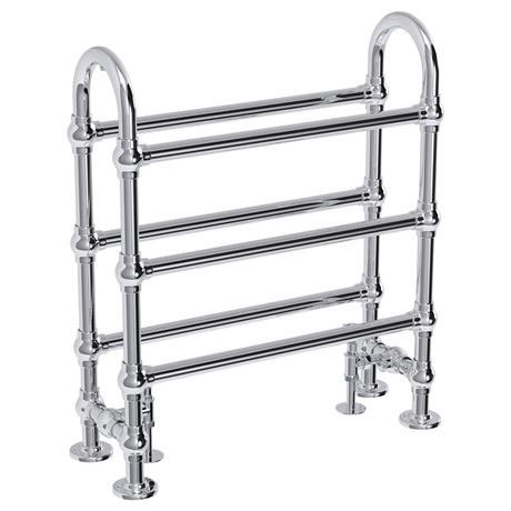 Windsor traditional 778 x 683mm chrome freestanding towel rail at victorian plumbing uk Traditional bathroom accessories chrome