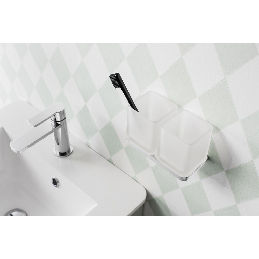 Crosswater - Wisp Double Wall Holder - WP005C profile large image view 2