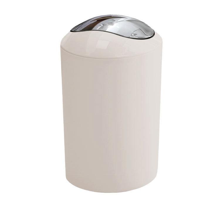 White vanity bathroom units - Kleine Wolke Glossy Swing Bin Snow White 5063 114
