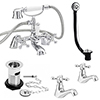 Nuie Traditional Viscount Bath Shower Mixer Pack - Chrome - X378 profile small image view 1