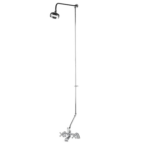 Ultra Viscount Range Bath/Shower Mixer with Rigid Riser Kit - Chrome Plated