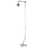 Ultra Viscount Range Bath/Shower Mixer with Rigid Riser Kit - Chrome Plated profile small image view 1