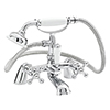Nuie Viscount Range Bath Shower Mixer with Large Handset - Chrome - X383 profile small image view 1