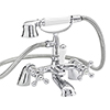 Nuie Viscount Range Bath Shower Mixer with Small Handset - Chrome - X384 profile small image view 1