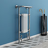 Mayfair Traditional Chrome Heated Towel Rail H965mm x W495mm profile small image view 1
