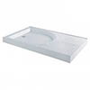 MX Classic Flat Top Polyester Gel Coated Rectangular Stone Resin Shower Tray with Drying Area - 1400 x 900mm - XCK profile small image view 1