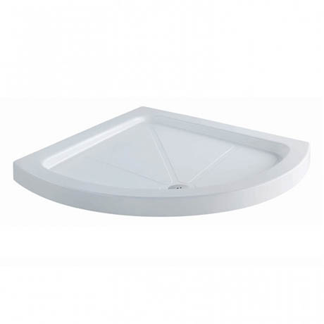 MX Classic Flat Top Polyester Gel Coated Bow Quad Shower Tray - 900 x 900mm - XKA