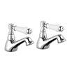 Nuie Traditional Bloomsbury Basin Taps - Chrome - XM301 profile small image view 1