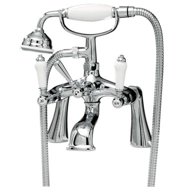 Ultra Bloomsbury Freestanding Bath Shower Mixer - Chrome Profile Large Image