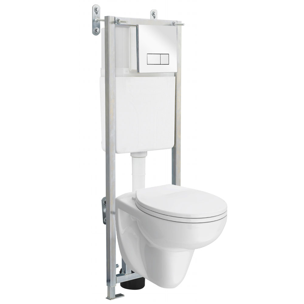 Wall Hung Toilet With Dual Flush Concealed Wc Cistern Amp Wall Hung Frame At Victorian Plumbing Uk