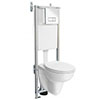 Wall Hung Toilet with Dual Flush Concealed WC Cistern + Wall Hung Frame Small Image