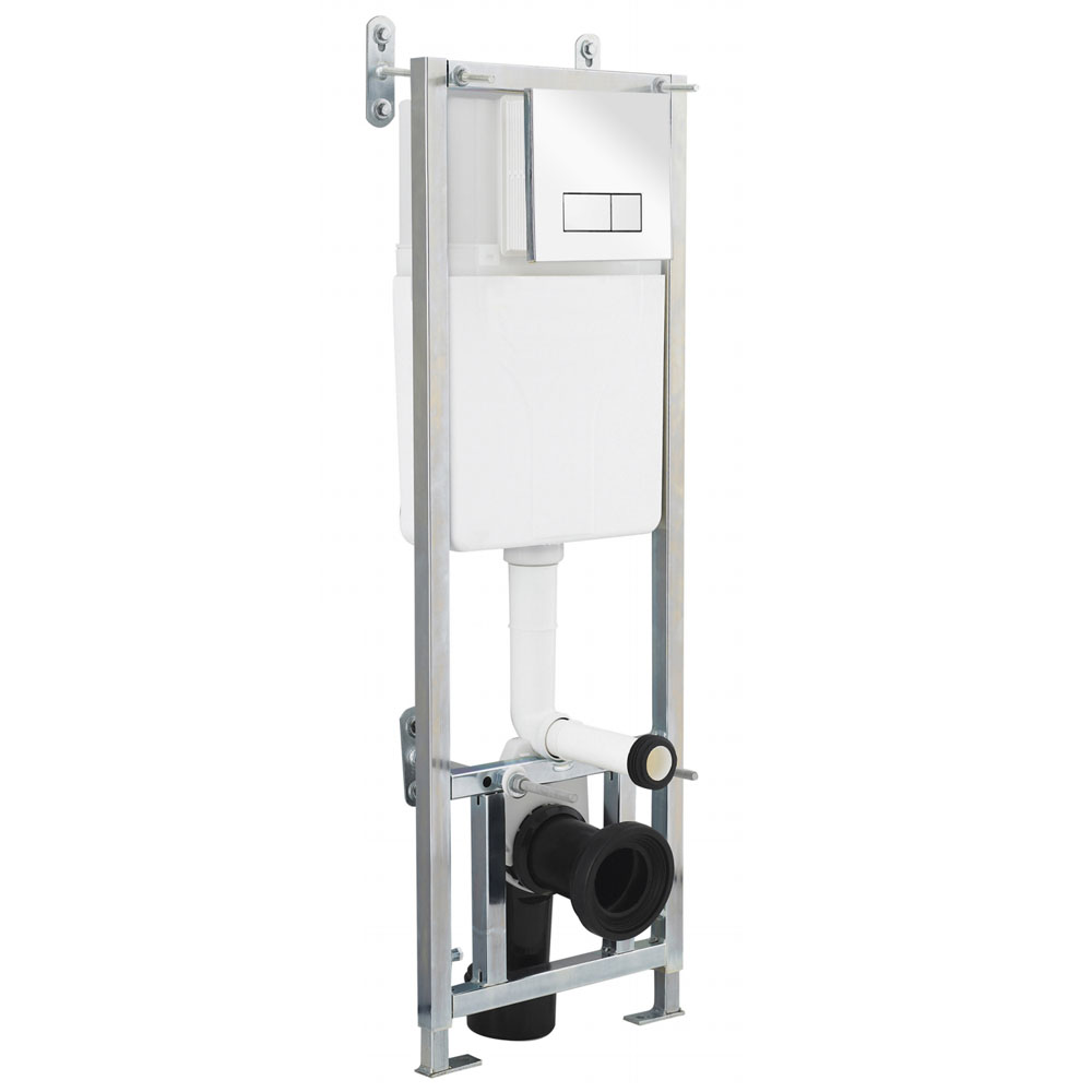 Nuie Dual Flush Concealed WC Cistern with Wall Hung Frame - XTY005