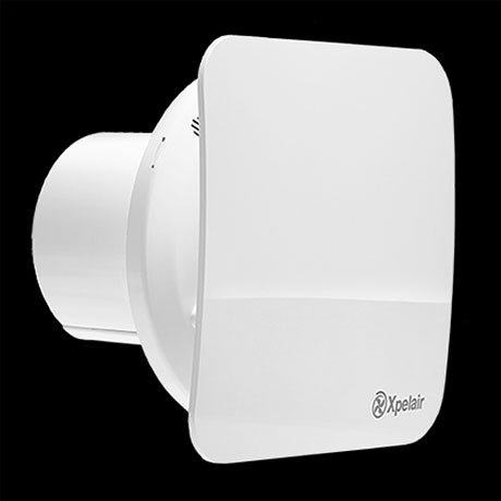 "Xpelair C4TS Simply Silent 4"" Square Bathroom Extractor Fan with Timer"