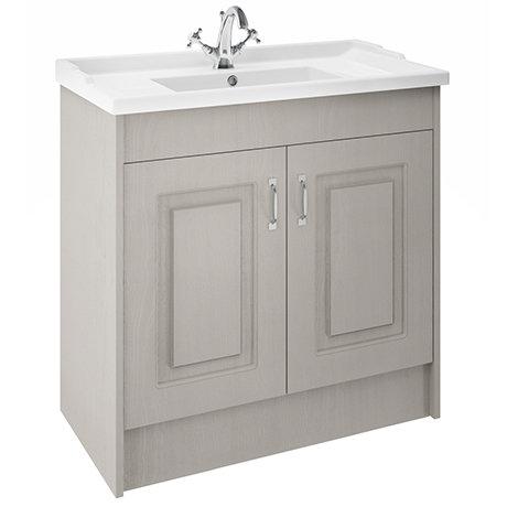 York Traditional Grey Bathroom Basin Unit (1020 x 470mm) - 1 Tap Hole
