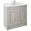 York Traditional Grey Bathroom Basin Unit (1020 x 470mm) - 1 Tap Hole profile small image view 1