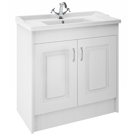 York Traditional White Ash Bathroom Basin Unit (1020 x 470mm) - 1 Tap Hole