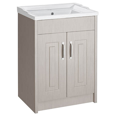 York Traditional Grey Bathroom Basin Unit (600 x 460mm)