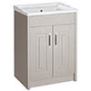 York Traditional Grey Bathroom Basin Unit (600 x 460mm) Medium Image