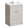 York Traditional Grey Bathroom Basin Unit (620 x 470mm) profile small image view 1