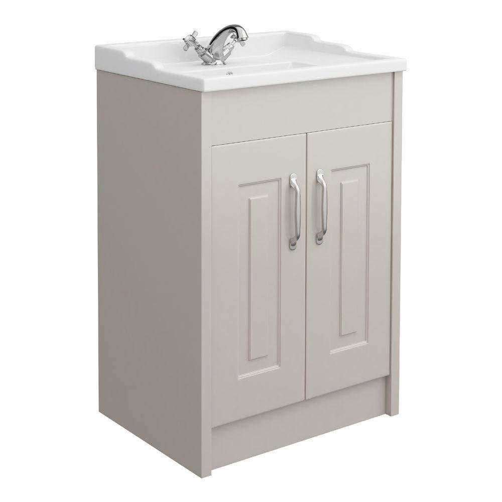 York Traditional Grey Bathroom Basin Unit (600 x 460mm) Large Image