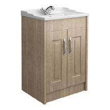 York Traditional Wood Finish Bathroom Basin Unit (600 x 460mm) Medium Image