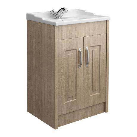York Traditional Wood Finish Bathroom Basin Unit (600 x 460mm)