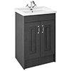 York Traditional Dark Grey Bathroom Basin Unit (620 x 470mm) profile small image view 1